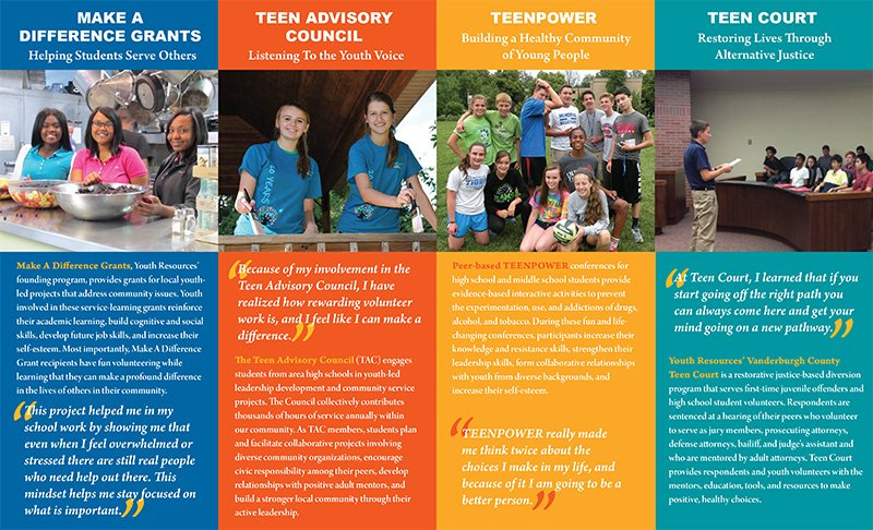 Youth Resources General Information Brochure